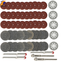 60pcs Diamond Cutting Disc Sanding Grinding Wheel Circular Saw Blade Woodworking Metal Dremel Mini Drill Rotary