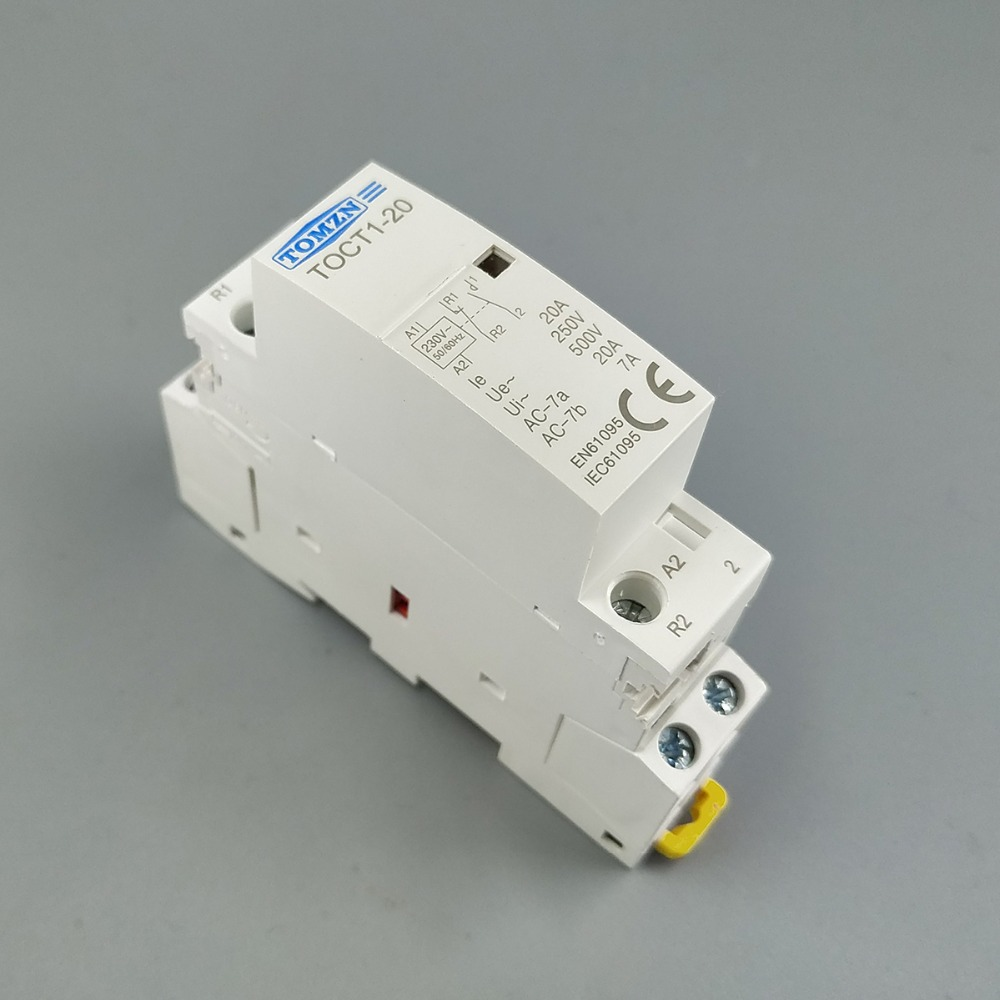CT1 2P 20A 24V 20ampere 50//60HZ Din rail Household ac contactor 1NO 1NC