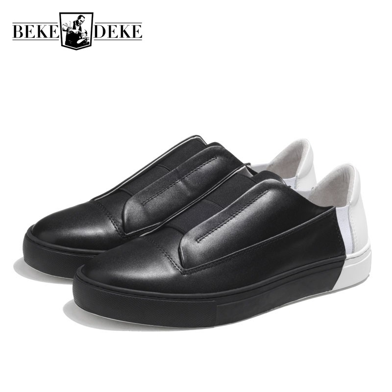 Здесь продается  2018 Summer Mixed Colors Mens Slip On Loafers Shoes Youth Designer Leather Sneakers Chaussure Homme Driving Footwear Patchwork  Обувь