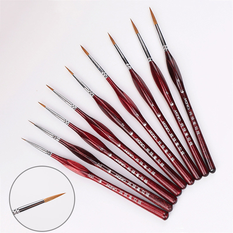 1Piece Paint Brush Fine Miniature Fine Hook Line Nail Art Drawing Brushes Wolf Half Paint Brushes For Acrylic Painting Supplies