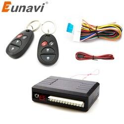 Eunavi универсальный пульт дистанционного Центральный комплект замок блокировка автомобиля системы ввода ключа с пультов дистанционного упр...