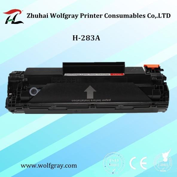 1PK HP CF283A үшін сыйысымды CF283 283A 283 83A толтырылатын тонер картриджі LaserJet Pro MFP M125nw M125rnw M127fn M127w M126FN