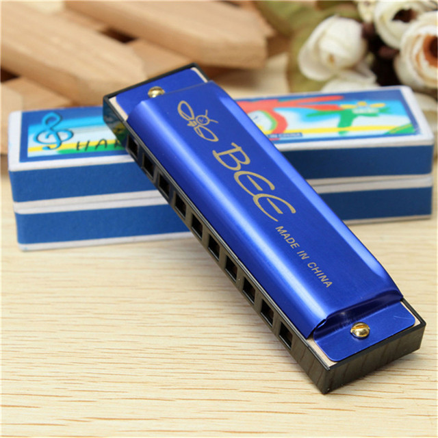 10 Holes 20 C Tone Harmonica Mouth Key Organ For Musical Instrument Toy Kids Gift Lover 3