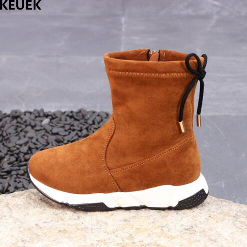 2018 New Winter Children Boots Kids Snow Boots Girls Boys Warm Plush Genuine Leather Baby Student Ankle Boots Toddler Shoes 03 babyfeet 2017 winter fashion warm plush high top genuine cow leather children ankle girls snow boots kids boys shoes sneakers
