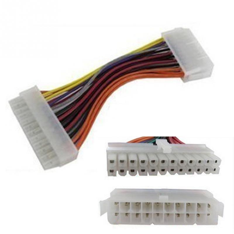 ATX 20 Pin Female To 24 Pin Male Internal PC PSU Power Adaptor Cable @