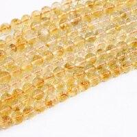 Rotonda Monili Che Fanno Nuovo Arrivo Perline di Pietra di Cristallo Naturale Giallo Liscio 6mm 8mm 10mm Fai Da Te All'ingrosso Allentato Beads 15 inch B3293