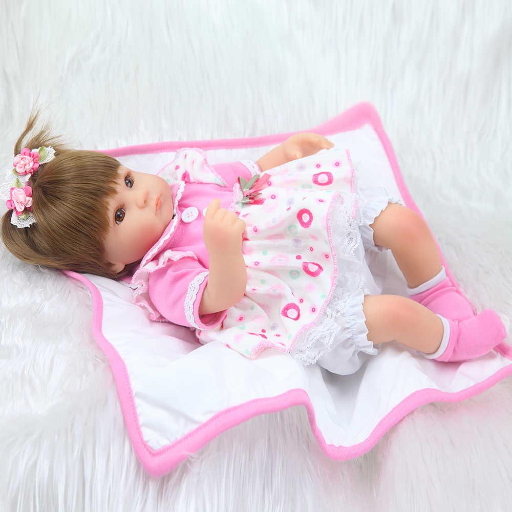 """17 """"Bonecas urok lalka księżniczka odrodzenie dziecko silikonowe lalki urocza rzeczywistość bebe niespodzianka zabawka dla dzieci"""