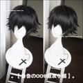 Heat Resistant Anime Bungo Stray Dogs Edogawa Ranpo Short Black Cosplay Costume Full Lace Cos Hair Wigs