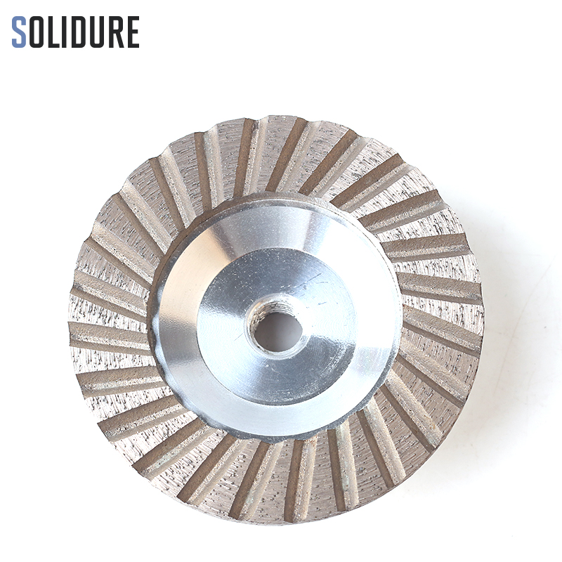 4 inch Fine 100 diamond cup wheels turbo cup grinding Aluminum backer abrasive tools for grinding