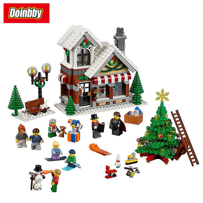 Lepin 36002 Girl Friends Series The Winter Toy Shop 10249 Building Blocks 1005Pcs Bricks Educational Toys Model As Gifts lepin 36002 1005pcs street view series winter toy store christmas model building blocks set bricks toys for children gift 10249