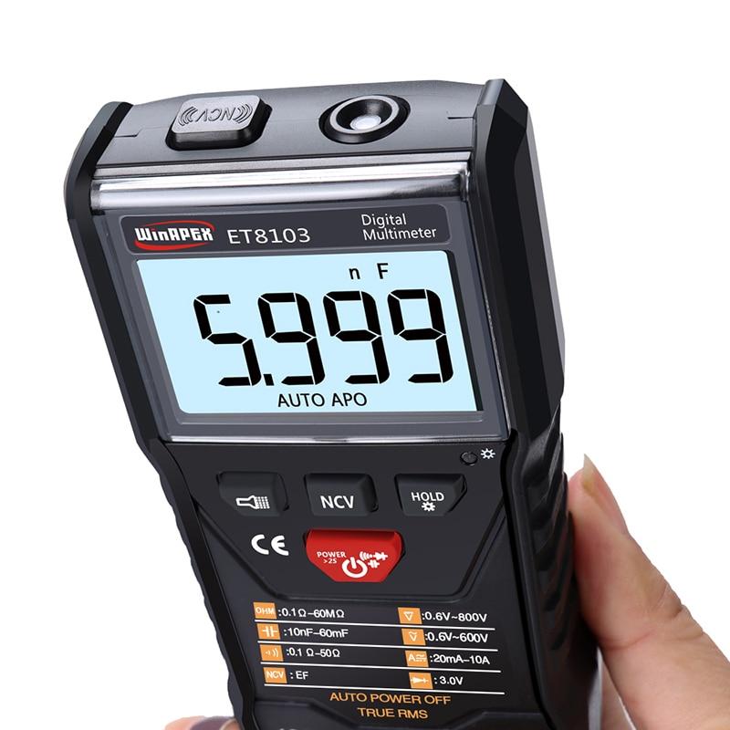 ET8103 Full Intelligent Digital Multimeter NCV True RMS Voltage Resistance Diode Mini Portable Multimeter Measure Tool|Multimeters| |  - title=