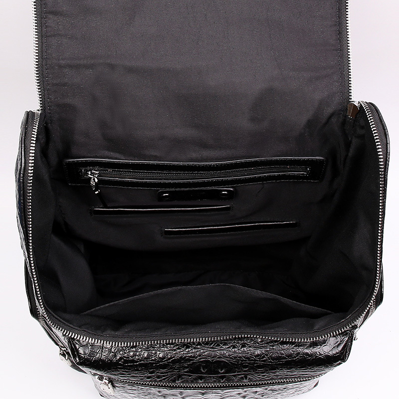 McParko luxe en cuir véritable sac à dos hommes vache sac à dos en cuir pour ordinateur portable motif Crocodile Design élégant Style sac à dos pour hommes - 6