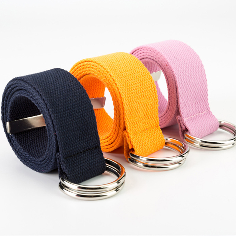 Apparel Accessories Painstaking D Ring Buckle Belt Men Harajuku Zipper All-match Ultra Long Canvas Belt Lovers Brief Solid Color Women Long Belt 100cm-160cm