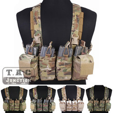 Emerson Combat Rapid Assault Chest Rig Emersongear Quick Release Carrier Vest Harness with M4 M16 Mag Magazine Pouch Multicam