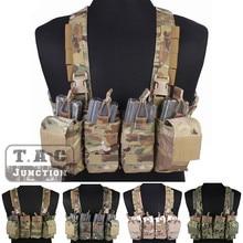 Emerson Kampf Schnelle Assault Chest Rig Emersongear Quick Release Träger Weste Harness mit M4 M16 Mag Magazin Pouch Multicam