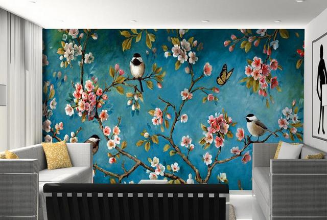 Charmant Customize 3d Mural Wallpaper Peach Bird 3d Wall Murals Wall Paper Bedroom  Living Room Wallpaper Modern