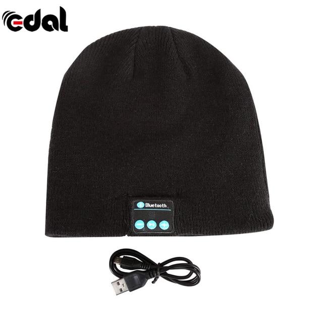 EDAL Hot New Soft Warm Beanie Hat Wireless Bluetooth Smart Cap Headphone  Headset Speaker Mic 2a3929db761d