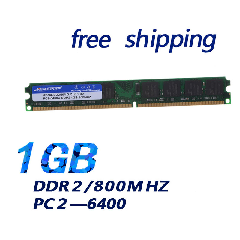 KEMBONA PREIS! Brand New Dimm-speicher Ram DDR2 1G memoria ram Für desktop-computer 800mzh 1,8 v