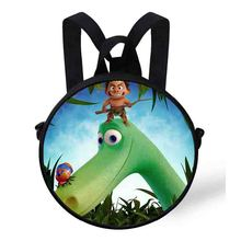 Mini Round Bag Cartoon The Good Dinosaur printing Backpack For Kids Boys&Girls Baby  Cute Animals Kindergarten
