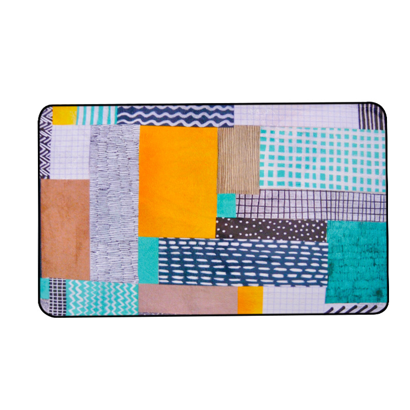 Personnalité pastorale tapis mosaïque chambre d'enfants tapis rose salon chambre chevet tapis table basse tapis de sol bébé maison tapete - 5