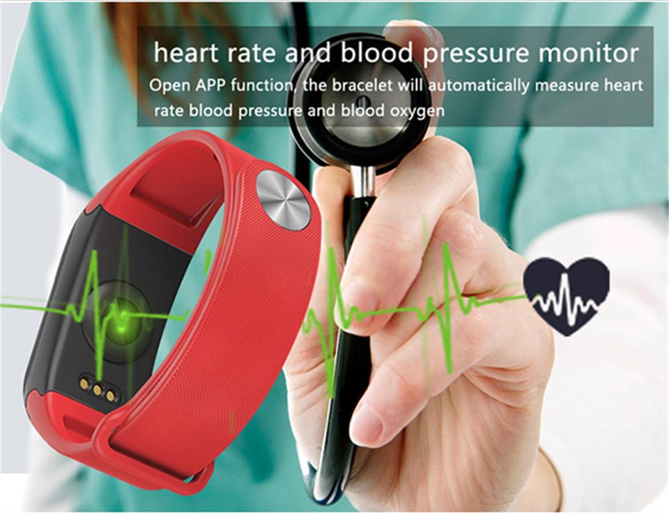 LETIKE Blood Pressure Smart Bracelet Sport Pedometer Fitness Tracker Wrist Smartband Pulse Measure Waterproof For IOS Android 3