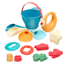 9/14Pcs Kids Outdoor toys Soft Rubber Beach Game Toys Set Shovels Rake Hourglass Bucket Animals Playset Role Play Toy Summer Hot