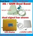 Nuevo 2016 GSM 3G Repetidor, doble Banda De Refuerzo 65dbi Señal Móvil 3G WCDMA GSM Booster GSM 900 Mhz/3G 2100 Mhz Amplificador