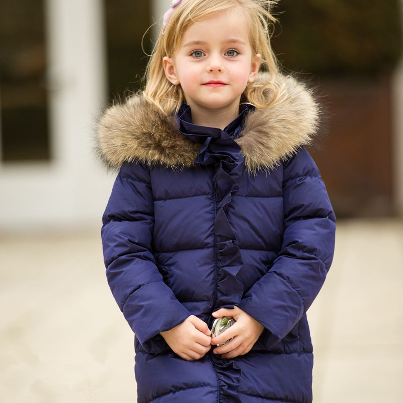 2017 Children Girls Winter Jackets Kids Hooded Coats Thick Children's Warm Parkas Girl Winter Coat With Fur Outdoor Duck Down duck down jacket for boys 2017 russia winter warm thick down parkas children casual fur hooded jackets coats 30 degrees
