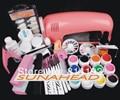 Горячая Pro 9 Вт UV GEL Розовый Лампы и 12 Цвет УФ Гель Nail Art Наборы Инструментов Наборы