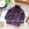 Free shipping Retail new 2013 spring autumn kids clothes Baby outerwear top Children cardigan coat baby boy cool knitted sweater