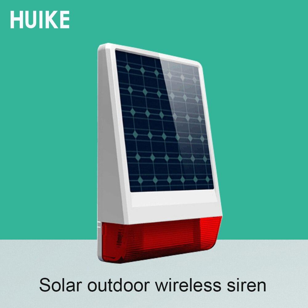 Wireless 315MHZ Outdoor Waterproof Strobe Siren Solar Powered LED Flashing Louder sound 130DB Free shipping