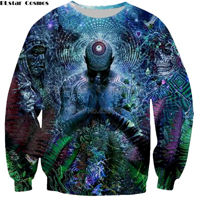 210ff834140 PLstar Cosmos 2018 New Fashion Sweatshirt Gratitude For The Earth and Sky  Creative Print 3d Men s Women s Casual Pullover