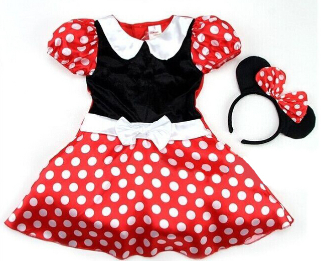 f2419b9fa Girls dress Baby Girls Dress Cute Minnie Mouse Dresses Kid Toddler ...