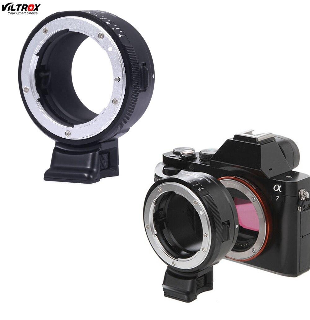 Viltrox NF-NEX Contrôle D'ouverture Électronique Lentille Adaptateur pour Sony NEX-5/3/5N/C3/5R/F3/6/7 A7 A7R NEX-VG10/VG20/VG30/FS100 FS700