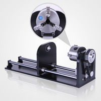 CNC Router Accessory F Style A Axis Rotary Axis with 80MM 3 JAW 230MM Track