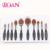 10 Unids cepillo de Dientes Tipo de Pinceles de Maquillaje Sintético Negro Oval Makup Cepillo de Sombra de Ojos Fundación Cosmética Kits