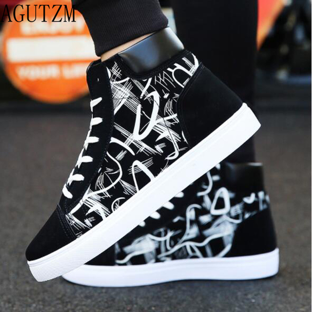 Super Hot Spring and Autumn Men Boots Comfortable Quality High Top Shoes Men New Casual Shoes Botas Breathable Masculinas q122