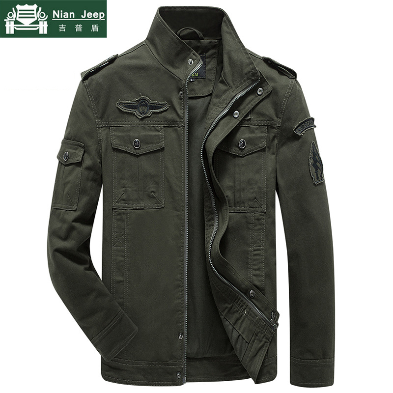 Mens Jackets Coats Armband Spring Army Male Autumn Plus-Size Fashion Cotton M-6XL Solid