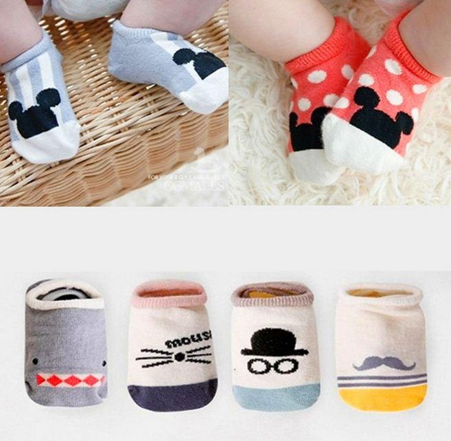 2020 Kawai Baby Socks For Girls Boys Spring Summer Cotton Anti Slip Newborn Socks Cartoon Infant New Born Sneakers Pair Socks
