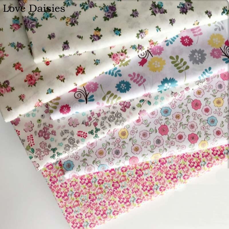 100% cotton twill pastoral small flowers series purple pink fichsia floralfabric for DIY kids sheet crib bedding apparel dress