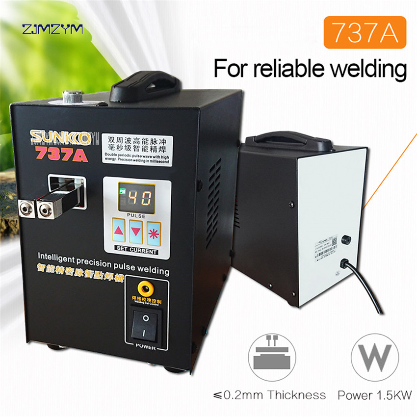 737A Spot Welder 18650 lithium battery double pulse precision spot welding machine digital LCD 110V 220V optional Spot Welders