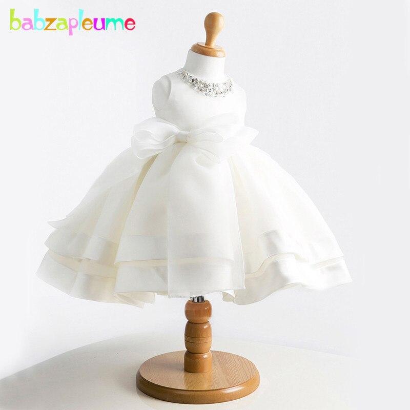 0-24months/estate newborn baby girl battesimo abiti 1st birthday principessa partito tutu white wedding dress abiti infantili bc1001