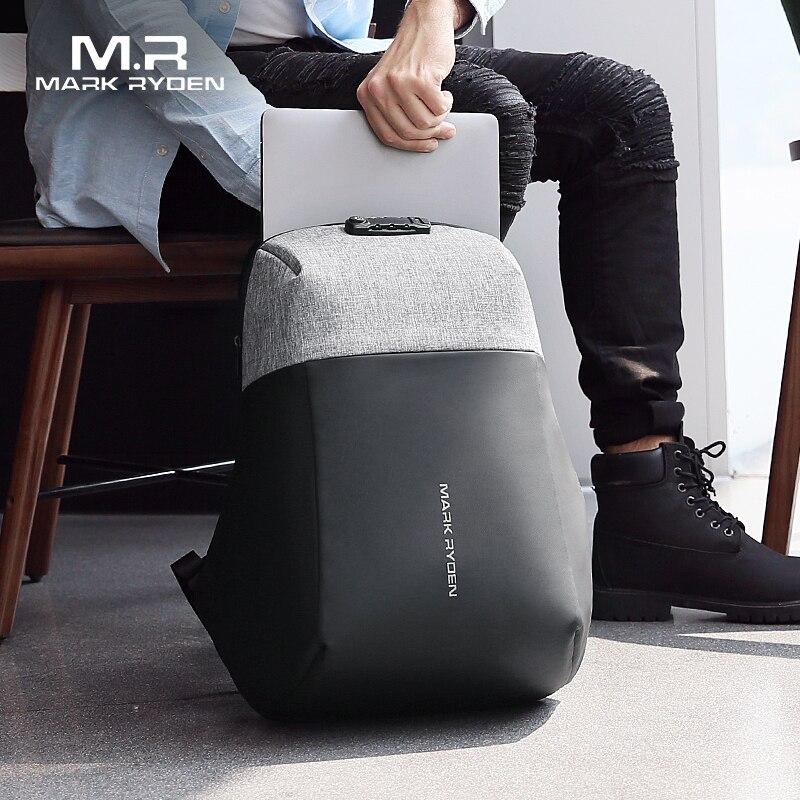 Mark Ryden nouveau Anti-voleur USB recharge sac à dos pour ordinateur portable coquille dure pas de clé TSA douane serrure conception sac à dos hommes voyage sac à dos