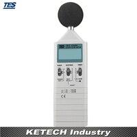 0.1dB Resolução TES1350A Sonómetro 35 130 dB resolution     -