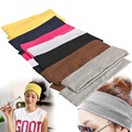 Sportswear Sweatband 2Pcs Women Yoga Fitness Running Cotton Elastic Headband Hair Strap Sports Safety  LB