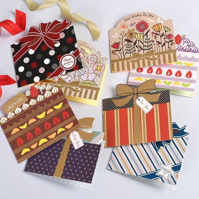 Bardzo dobra Kreatywny prezent pudełka kształt wiadomość karty etykieta kartki QV47