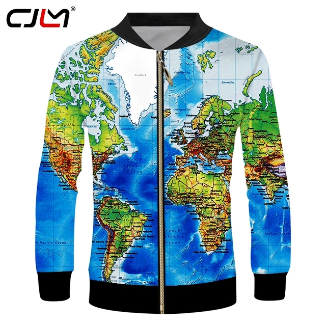 CJLM Man Hiphop Streetwear Punk Zipper Outwer Tracksuits New Fashion ...