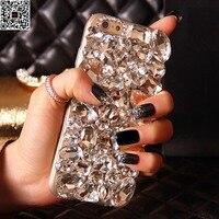 IPhone 5 s için 6 s Artı 7 Artı Lüks Vaka Kız Lady Handmad DIY Kristal Elmas Telefon Kılıfı Için iPhone X 8 artı 10 Özel vaka