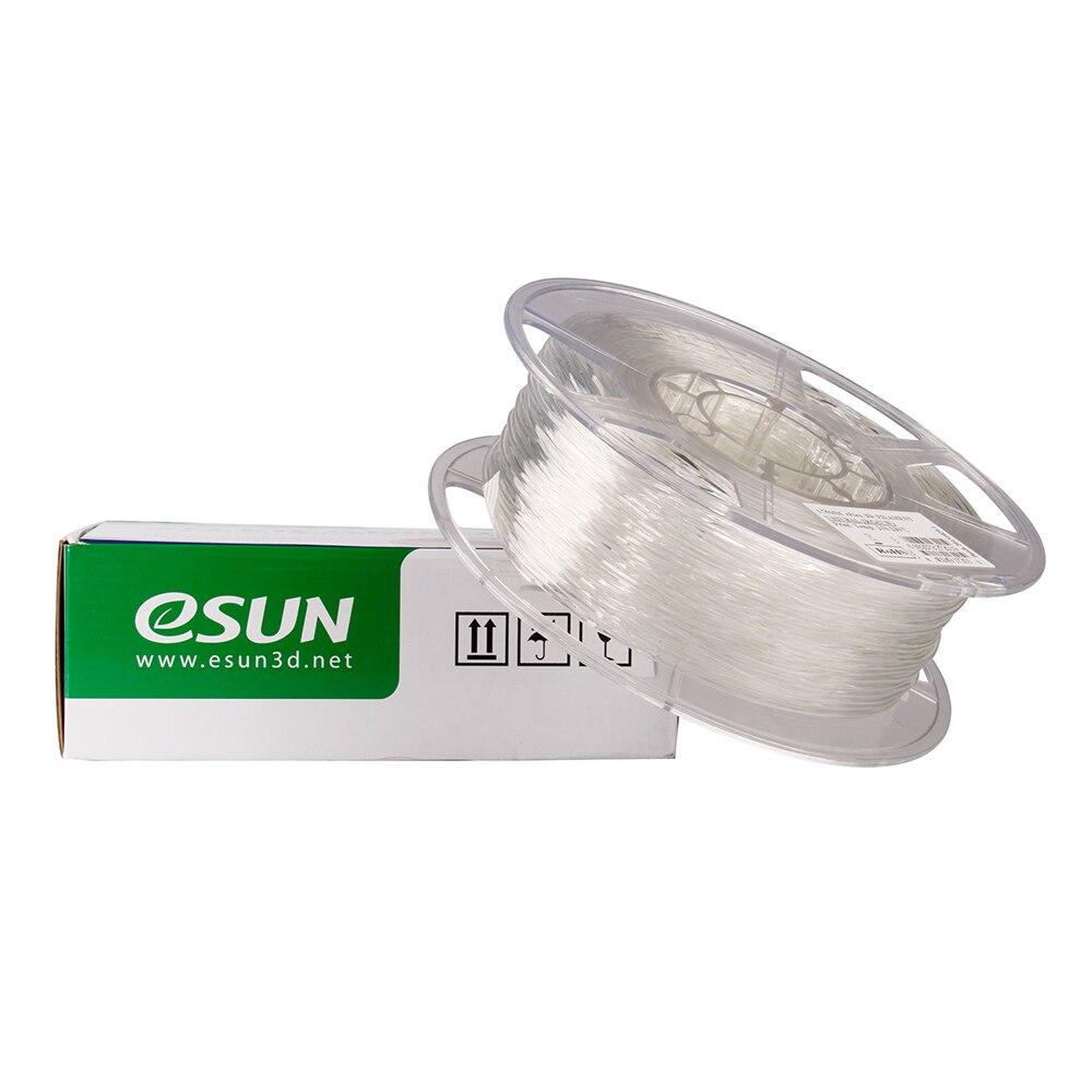 TPU Filament eSUN eFlex 3D Printer Consumables Natural Semi Transparent Material Refills 1 75mm 1kg 2