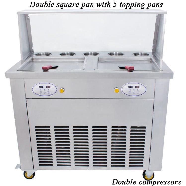 1600w 220V Or 110v Fry Fried Ice Cream Machine Fry Ice Pan Ice Cream Roll Machine